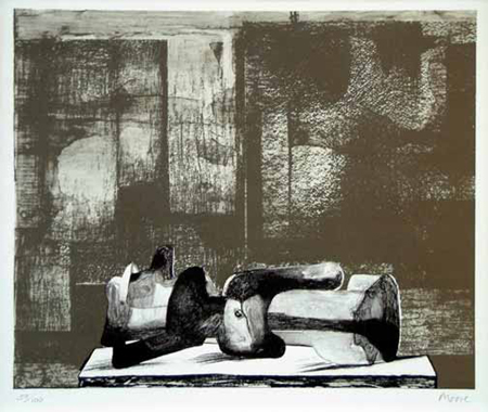 Reclining Figure - Architectural Background IV