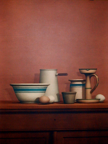 Still Life With Eggs, Candlestick and Bowl