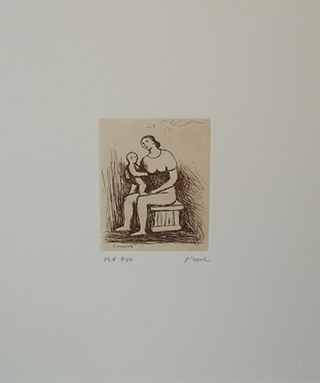 Mother and Child Plate 8