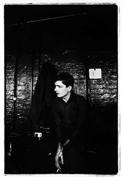 Ian Curtis, Joy Division. Hulme, Manchester, 6 January 1979