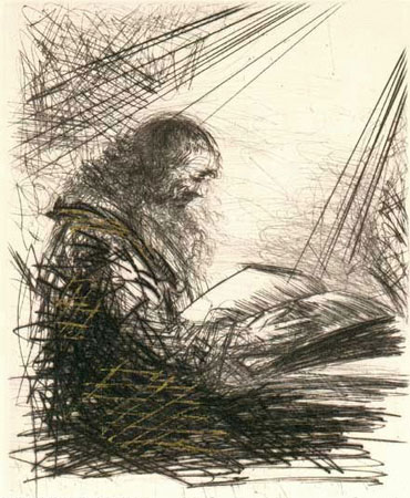 Faust Lisant (Reading Faust)