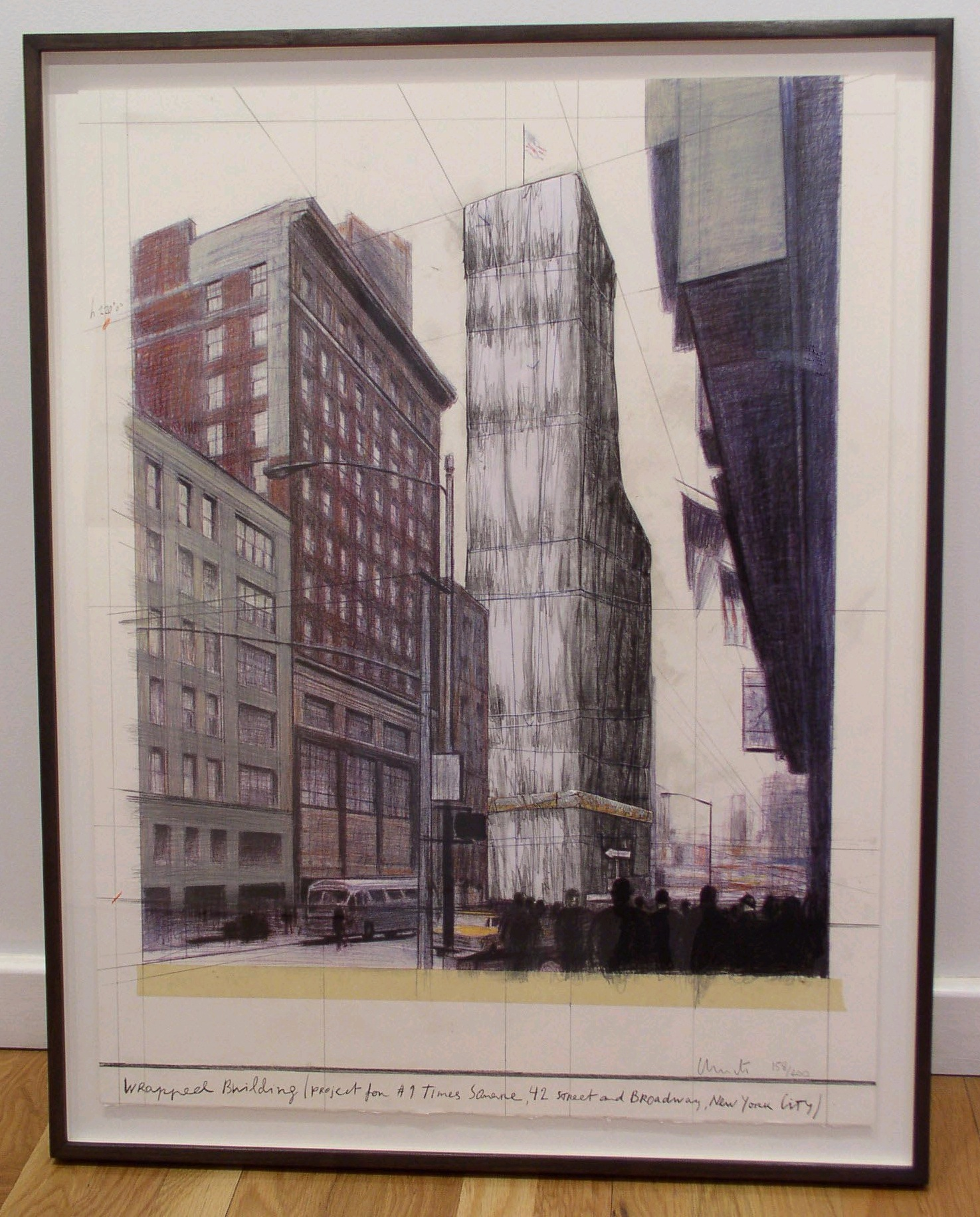 Wrapped Building (Project for #1 Times Square, 42 Street and Broadway, New York City)