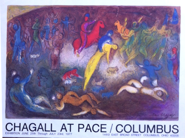 Chagall at Pace/Columbus June 25th – July 23rd 1977