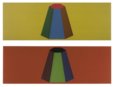 Flat Top Pyramid with Colors Superimposed