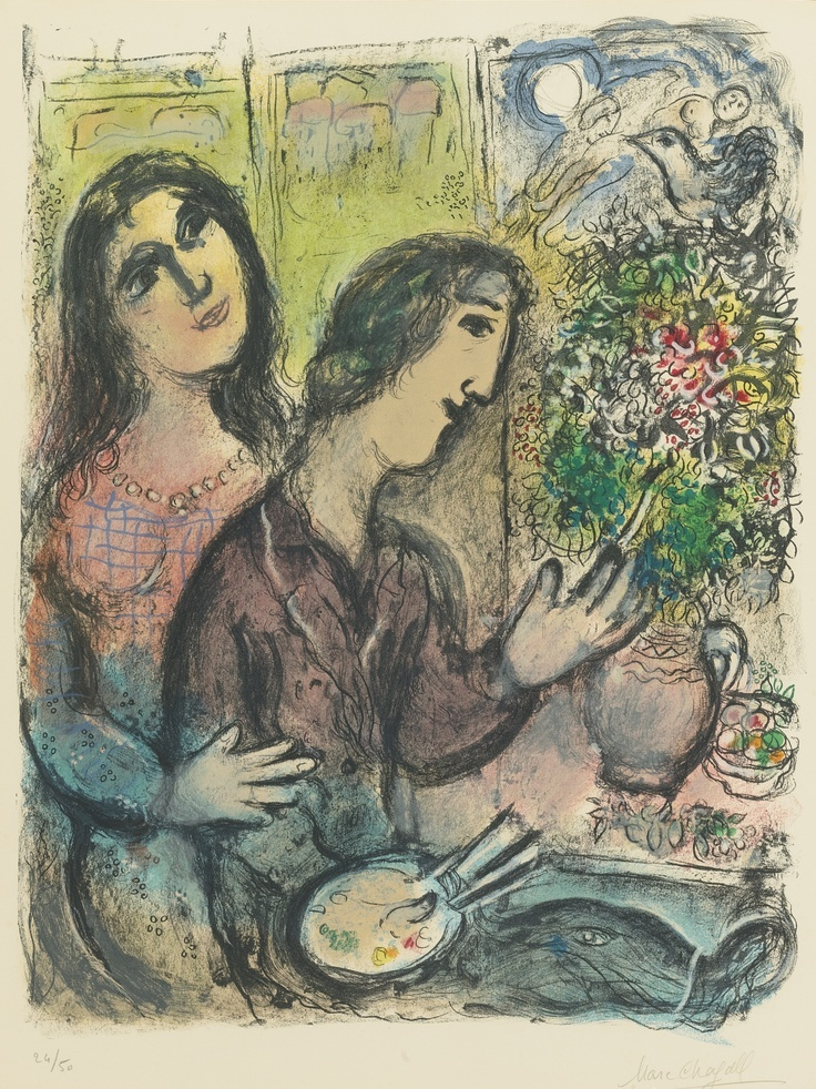 La femme du peintre marc chagall prints original prints for Chagall peintre