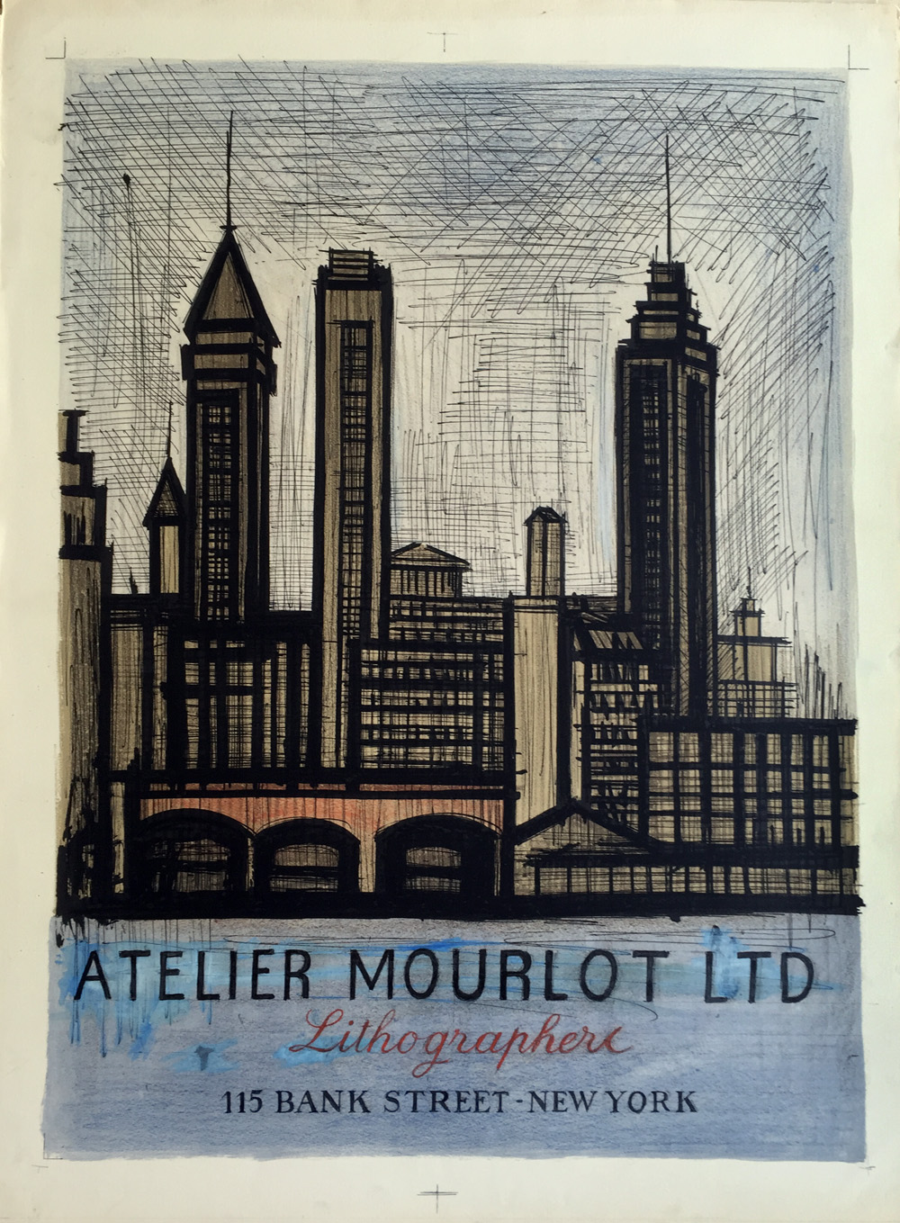 affiche atelier mourlot new york bernard buffet prints original prints. Black Bedroom Furniture Sets. Home Design Ideas