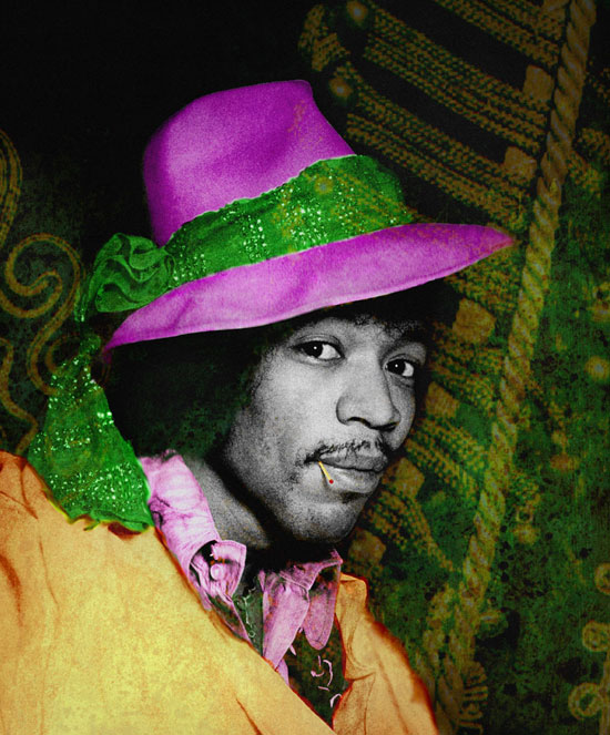 Jimi with Hat