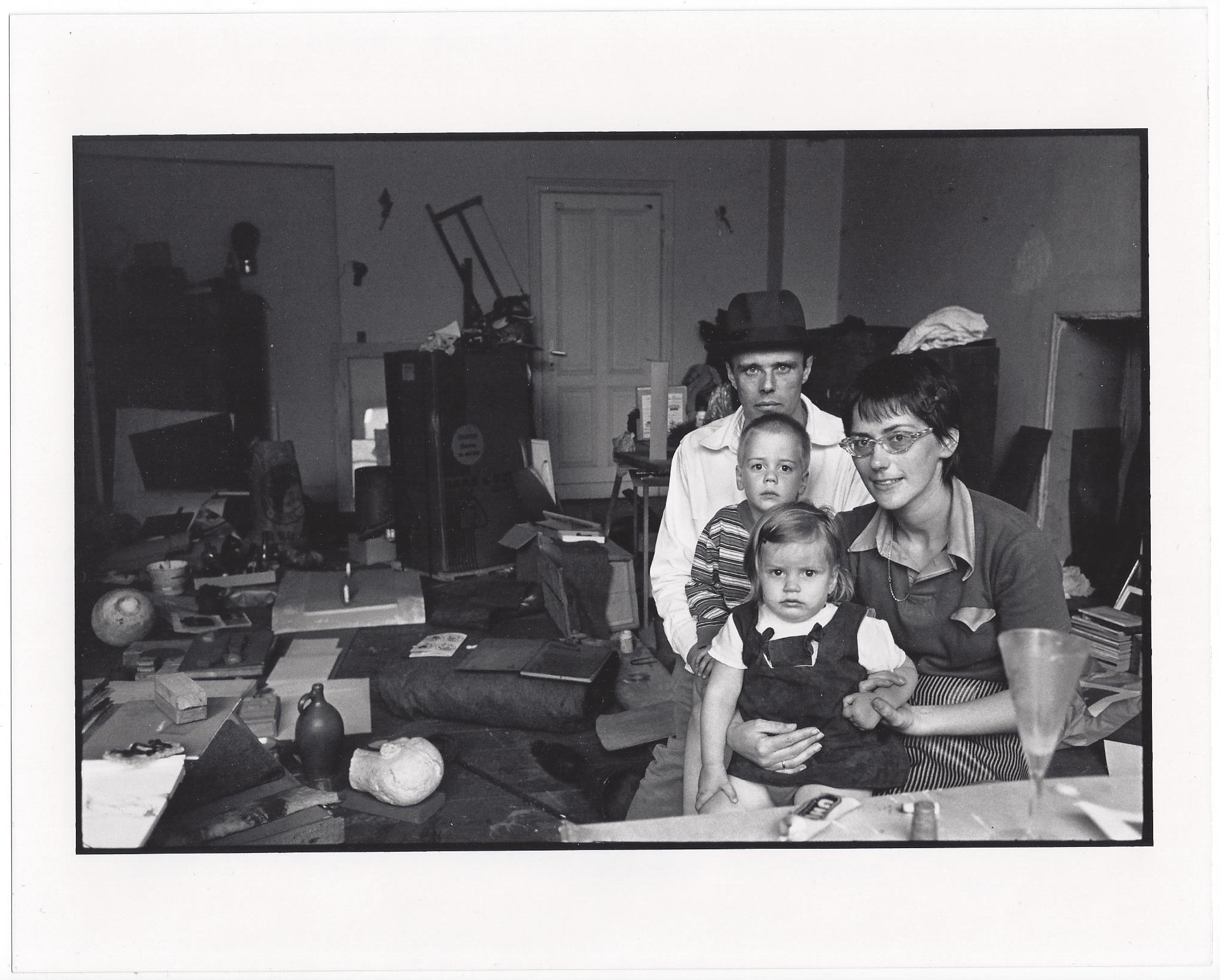 Joseph Beuys and his Family in his Home in Oberkassel