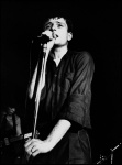 Ian Curtis, Joy Division. The Factory. Hulme Manchester, 6 January 1979 - click to enlarge