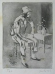 Young Man Sitting on a Chair - click to enlarge