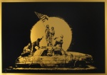 Banksy - GHETTO CREW  Gold Flag  - click to enlarge