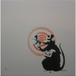 Banksy Radar Rat sonic signed - click to enlarge