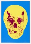 Cerulean Blue Pigment Yellow Royal Red Pop Up Skull - click to enlarge
