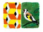 Stones of Venice Goldfinch Diptych - click to enlarge