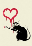 Banksy Love rat - click to enlarge
