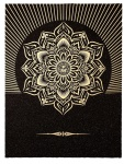Obey Lotus Diamond (Black & Gold) - click to enlarge