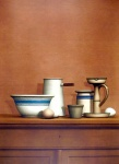 Still Life with Eggs, Candlestick and Bowl  - click to enlarge