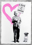 E=MC2 LOVE IS THE ANSWER Pink - click to enlarge