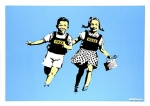 Banksy Jack and Jill(Police Kids) Signed - click to enlarge