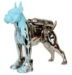 Cloned bronze bulldog with bottle wate - click to enlarge