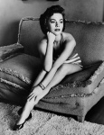 Natalie Wood classic portrait on sofa - click to enlarge