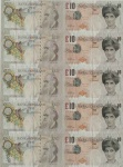Di Faced Tenner Sheet - click to enlarge