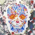 Chinese Floral Skull  - click to enlarge