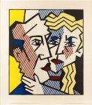 The Couple, from the Expressionist Woodcut series - click to enlarge