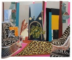 Interior: Zebra with Two Chairs and Funky Fur - click to enlarge