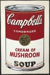 Campbell's soup I: Cream of Mushroom - click to enlarge